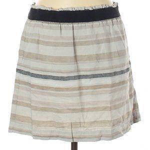 NWT Ann Taylor LOFT Striped Linen Skirt – L